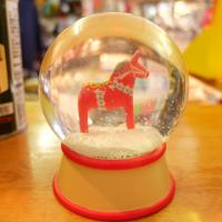 SNOW DOME LUCKY HORSE RED 馬